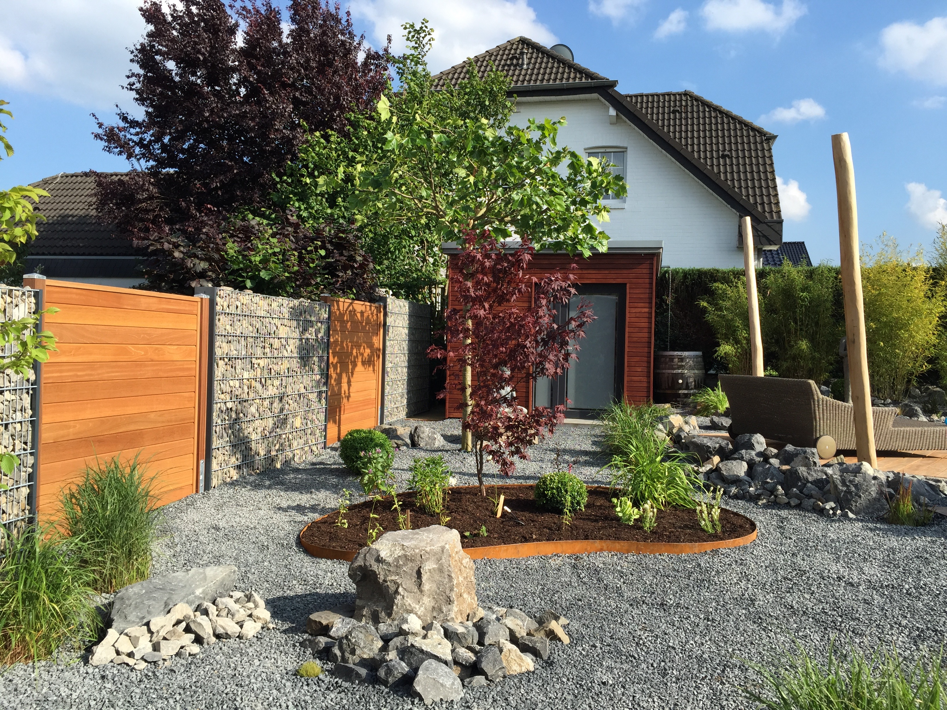 Schön Gabionen Gartengestaltung Schema