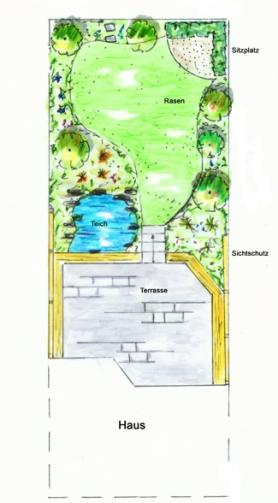 reihenhaus aachen - gartenplanung & gartengestaltung aachen, Garten ideen